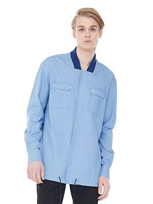 String riphem shirts jacket - Light Blue