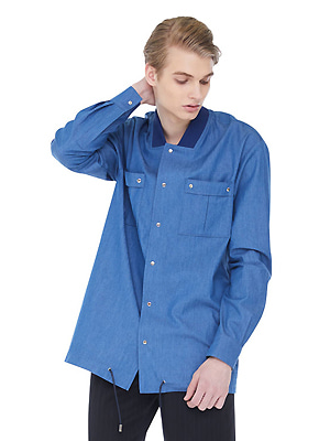 String riphem shirts jacket - Dark Blue
