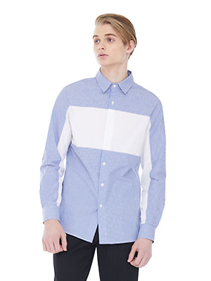 Striped Whiteblock Shirts - Blue
