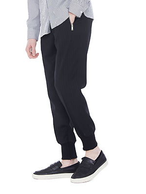 Zippered jogger pants - Black