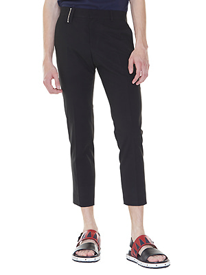 Zippered belt loop slacks - Black