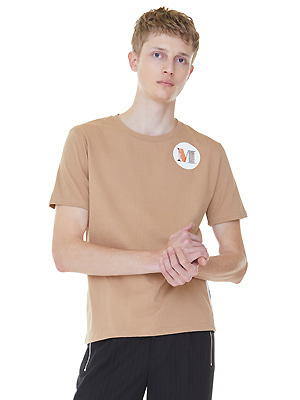 Shield m lining t-shirts - Beige