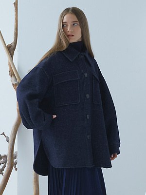 Macell Coat - Navy