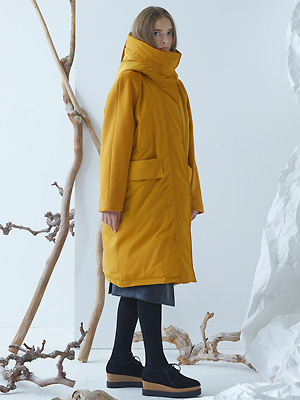 [솔비 착용]Avenue Down Coat - Yellow