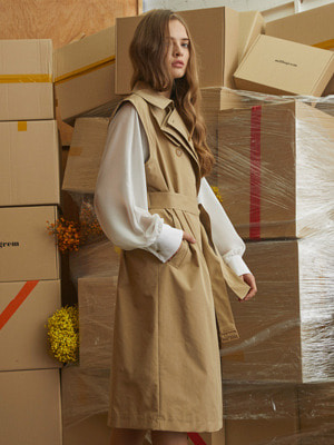 Addrop Trench Coat - Beige