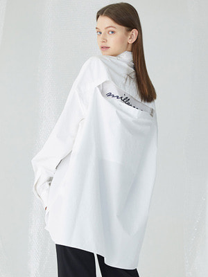 [수지 착용]Wttf Oversized Shirts - White