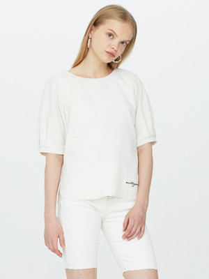 Double Faced Ripple Blouse - Ivory